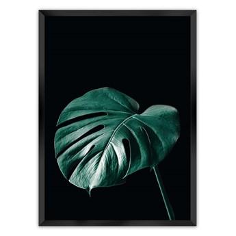 Plakat Dark Monstera, 40 x 50 cm, Ramka: Czarna