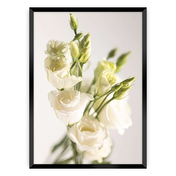 Plakat Elegant Flowers, 21 x  30 cm, Ramka: Czarna