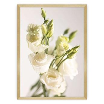 Plakat Elegant Flowers, 70 x 100 cm, Ramka: Złota