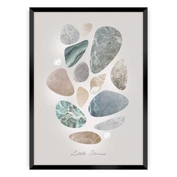 Plakat Pastel Stones, 30 x 40 cm, Ramka: Czarna