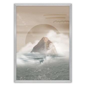Plakat Mountains, 21 x  30 cm, Ramka: Srebrna
