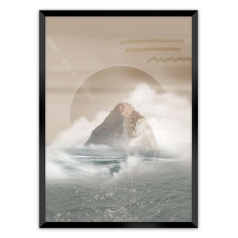 Plakat Mountains, 21 x  30 cm, Ramka: Czarna
