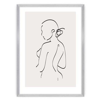 Plakat Body Line I, 21 x 30 cm, Ramka: Srebrna