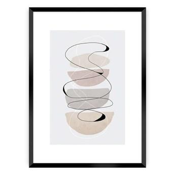 Plakat Abstract Lines II, 40 x 50 cm, Ramka: Czarna