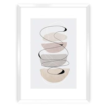 Plakat Abstract Lines II, 40 x 50 cm, Ramka: Biała