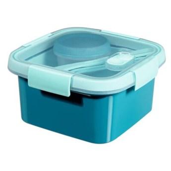 Pojemnik plastikowy CURVER To Go Lunch Kit 232686 1.1 L Niebieski
