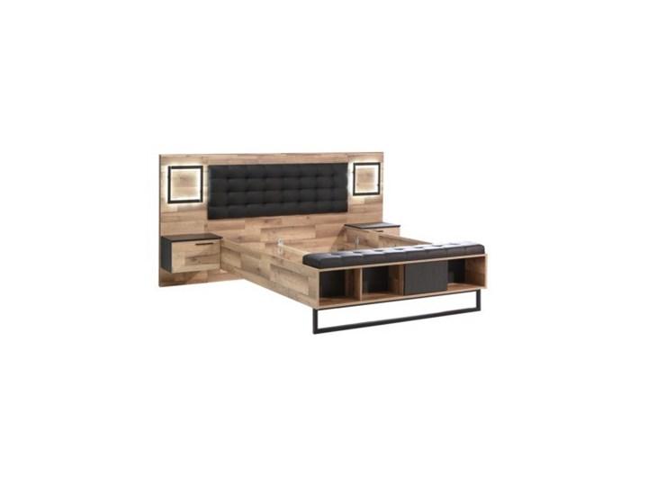 Łóżko SIRIUS CROWN z szafkami nocnymi i oświetleniem  Salony Agata