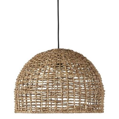 Ażurowa wiklinowa lampa wisząca Cebu