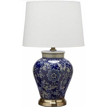 Ceramiczna lampa stołowa Feng 58cm granatowa