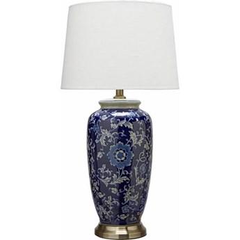 Ceramiczna lampa stołowa Lee 68cm granatowa