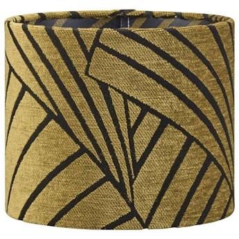 Cylindryczny żakardowy abażur Sara złoty