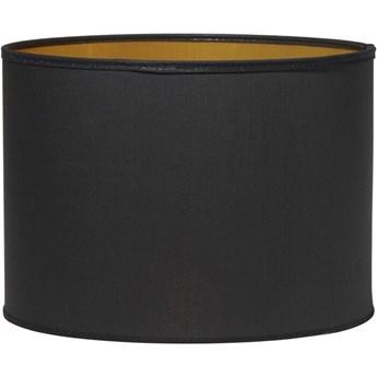 Cylindryczny abażur Sara czarny ze złotym środkiem