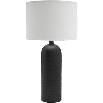 Czarna metalowa lampa stołowa Riley z abażurem