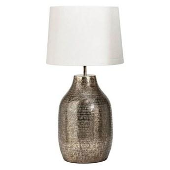 Duża lampa stojąca Humphrey brąz z abażurem