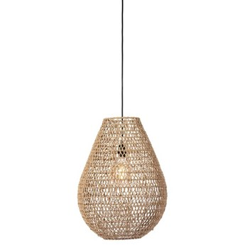 Duża wiklinowa lampa wisząca Buster naturalna 45cm