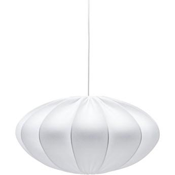 Eliptyczna lampa abażurowa Rosa biała 60cm