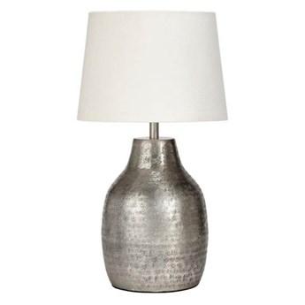 Lampa stojąca Humphrey srebrna z abażurem