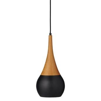 Lampa wisząca Lucy Woodlike Teak/Czarny 20cm