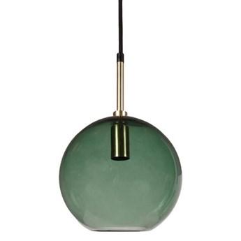 Lampa wisząca szklana kula Milla zielona 20cm