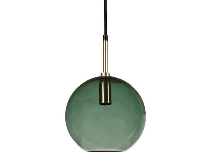 Lampa wisząca szklana kula Milla zielona 20cm Lampa kula Kategoria Lampy wiszące Szkło Mosiądz Metal Styl Klasyczny