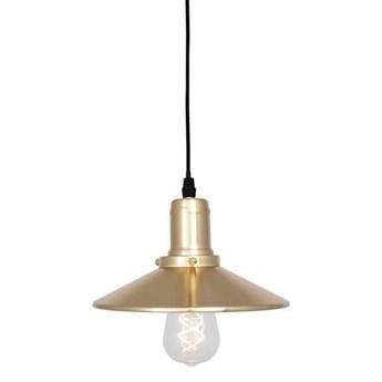 Mała industrialna lampa wisząca stożek Disc złota