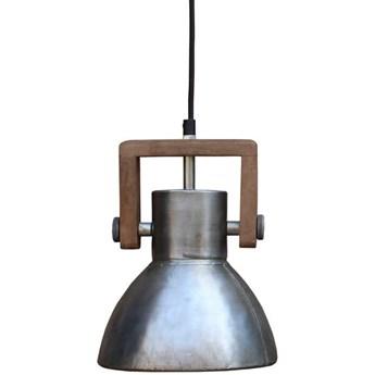 Surowa lampa wisząca Ashby srebrna drewno