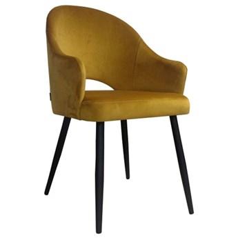 Yellow upholstered chair DIUNA mustard material MG-15