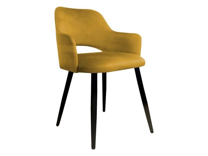 Yellow upholstered STAR chair material MG-15 Głębokość 57 cm Szerokość 50 cm Wysokość 76 cm Wysokość 46 cm Wysokość 60 cm Styl Vintage Szerokość 42 cm Metal Tkanina Głębokość 44 cm Kolor Żółty