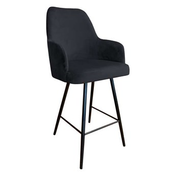 Black upholstered PEGAZ hoker material MG-19