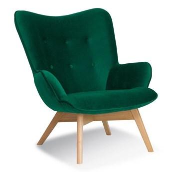 Armchair CHERUB green / leg oak / KR19