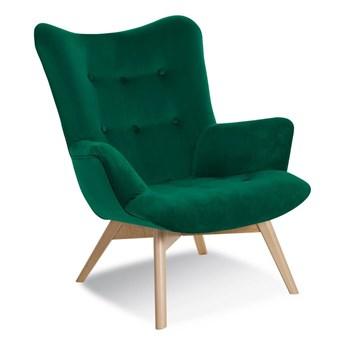 Armchair ANGEL green / leg oak / KR19