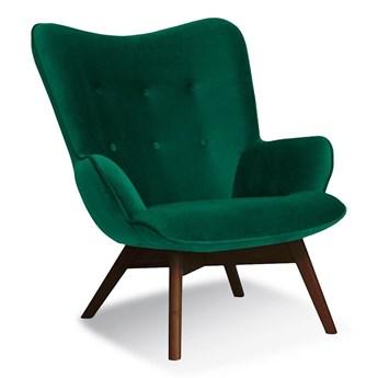 Armchair CHERUB green / leg walnut / KR19