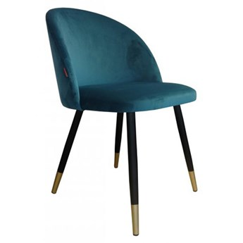 Chair KALIPSO petrol material MG-20 with golden leg
