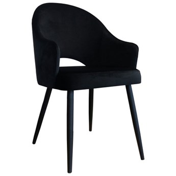 Black upholstered chair DIUNA armchair material MG-19