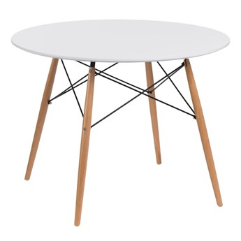 DTW table 100 cm, white top