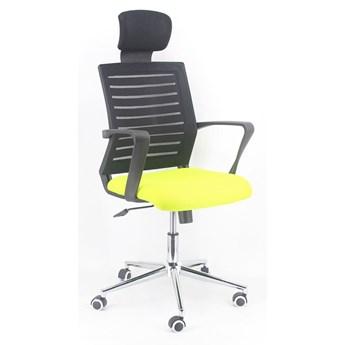 MAX fotel obrotowy zielony/czarny