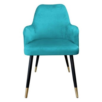 Marine upholstered PEGAZ chair material MG-20 with golden leg