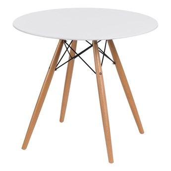 DTW table 80 cm, white top