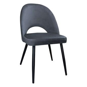 Dark gray upholstered LUNA chair material BL-14