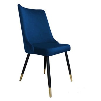 Orion chair dark blue material MG-16 with golden leg