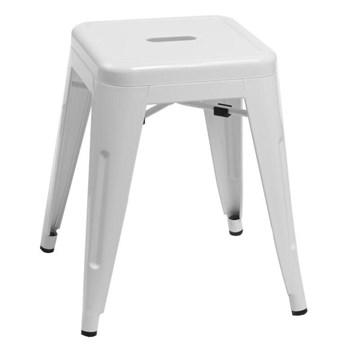 Tolix Paris white stool