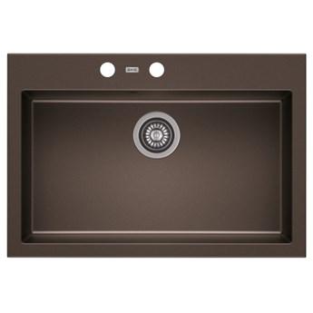 Zlewozmywak granitowy A-POINT 60 Ciemna czekolada