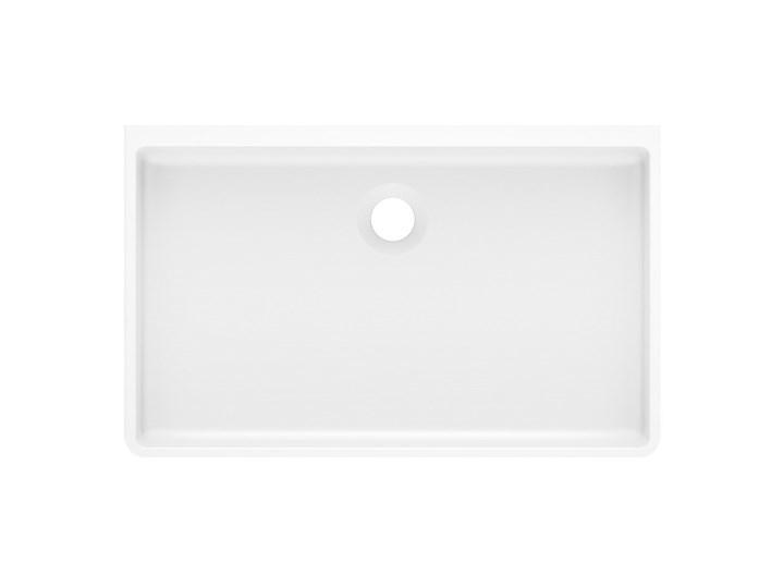 Umywalka SILBA 55 Biały Nablatowe Kamień naturalny Prostokątne Szerokość 55 cm Kategoria Umywalki