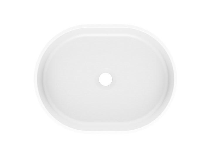 Umywalka nablatowa OLIB 48 Biały Nablatowe Szerokość 48 cm Kamień naturalny Szerokość 49 cm Szerokość 50 cm Kategoria Umywalki