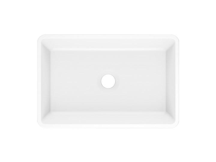 Umywalka nablatowa REVA 45 Biały Nablatowe Kamień naturalny Szerokość 45 cm Kategoria Umywalki