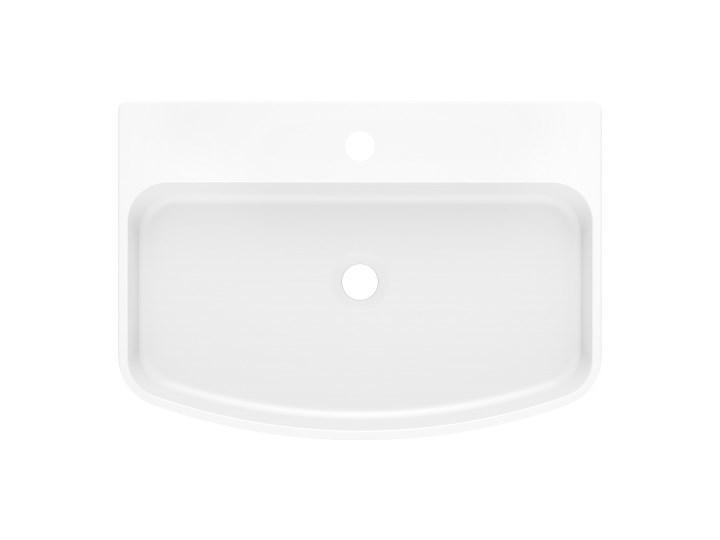 Umywalka MOLAT 60 Biały Nablatowe Szerokość 60 cm Kamień naturalny Kategoria Umywalki