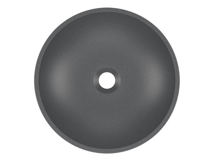 Umywalka nablatowa MAUN 40 Moonlight grey Okrągłe Nablatowe Kamień naturalny Szerokość 40 cm Kolor Szary Kategoria Umywalki