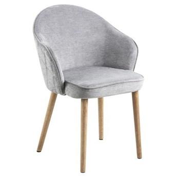 Pikowane krzesło na drewnianych nogach Pomona Wood