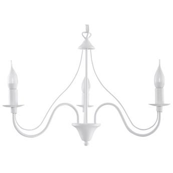SOLLUX Klasyczny Żyrandol Świecznikowy MINERWA 3 Biały Lampa Wisząca