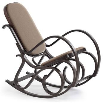 Drewniany fotel bujany w kolorze Wenge X3 - Dixel